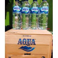 Aqua 600 ml 1 dus isi 24 botol