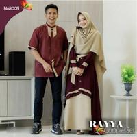 Baju Couple Syari Suami Istri Couple Lebaran Muslim Jc Cp Rayya CrepeL
