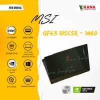 MSI GF63 10SCSR 1460 Core i5 GTX 1650ti MaxQ LAPTOP GAMING TERMURAH