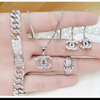 Set perhiasan xuping lapis emas 18k silver