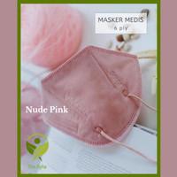 Masker Pokana KN95 / Masker Medis 6 Ply Isi 2 - Warna Nude Pink