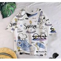 T-Shirt SNOP F XL / BAJU KAOS WANITA XL KOREA OVERSIZE KATUN COMBED
