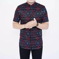 Baju Batik Kantoran Pria Lengan Pendek Slimfit Remaja-dewasa