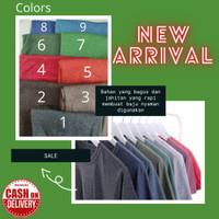 Kaos Polos Cotton Soft Twotone / Misty Tuton Lengan Pendek Unisex Pria
