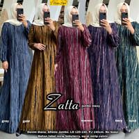 Baju Gamis Jumbo Wanita Zatta Bahan Denim Diana Original Redea Hijab