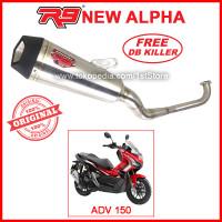 Original R9 New Alpha ADV 150 Honda ADV150 Knalpot Racing Ori Asli PnP