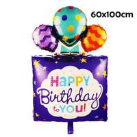 Balon Foil Hbd To You / Balon Happy Birthday Gift Box Balloons