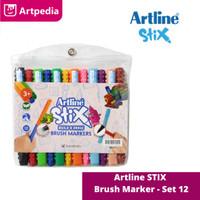 Artline Stix Brush Marker Set 12 - Terlaris dan Termurah!!!