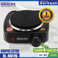 Kompor Listrik 1 Tungku - Idealife IL-401S Electrical Stove (Single)