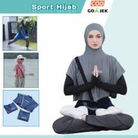 jilbab olahraga instant sport rompi bolero sporte