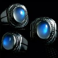 cincin batu akik NATURAL biduri bulan air laut