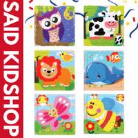 Puzzle Kayu / Jigsaw Puzzle / Wooden Puzzle 16 Keping Lucu - Binatang