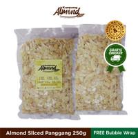 Kacang Almond Slice Panggang (Roasted ) Uk. 250 Gr