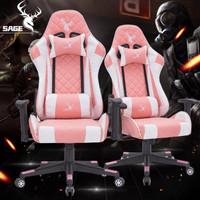 Sage Gaming Chair Kursi Gamer Bangku Game 180 Derajat - Sg-616 Pink