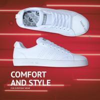 Sepatu Pria Casual Adidas Neo Advantage Grade Ori All White Full Putih