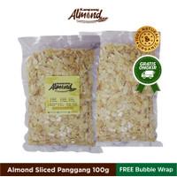 Kacang Almond Slice Panggang (Roasted ) Uk. 100 Gr