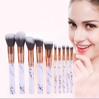 Marble Brush Make Up 10 Set | Kuas Makeup Brush Contour isi 10
