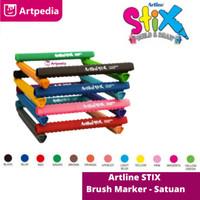 Artline Stix Brush Marker - Yellow