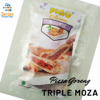 PIGO PIZZA GORENG CALZONE TRIPLE MOZZA/SMOKED BEEF/DAGING CINCANG