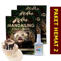 PAKET HEMAT 2 - Mandailing Drip Bag x3 + Hand Sanitizer