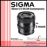 Sigma 65mm f/2 DG DN Contemporary for Sony E-mount Full-frame