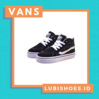 sepatu anak laki laki/sneakers bayi vans anak sk8 high black white - 20-35(Di Note)