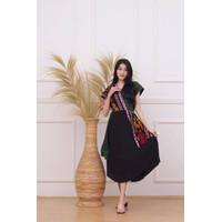 Dress Batik Andin Tenun Songket Katun Mewah All Size Jumbo Murah