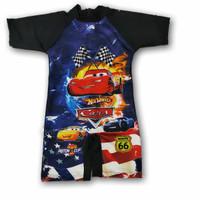 baju renang anak cowok TK - SD karakter tobot tayo spriderman cars 95
