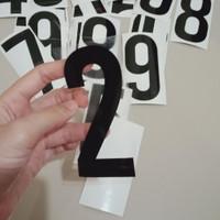 stiker nomor rumah - nomor pintu sticker - stiker oracal angka