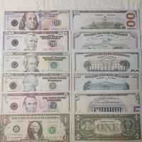 mainan uang dollar amerika isi 50 lembar