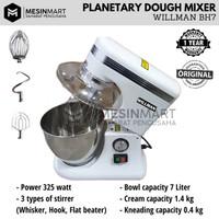 Planetary Mixer WILLMAN 7L 7 Liter Pengaduk Adonan Roti Kue Serbaguna