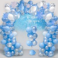 Dekorasi Ulang Tahun Anak Dewasa Frozen Winter Balon set party kado