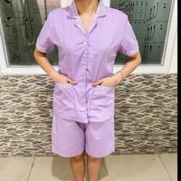 Baju Suster Anak Kulot Warna Ungu (ukuran S/M/L/XL tersedia)