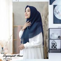 Hijabwanitacantik - Hijab Segi Empat Hana - Navy
