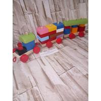 Jual Kereta Kayu Kayu Balok Geometri Kayu Mainan kereta Mainan