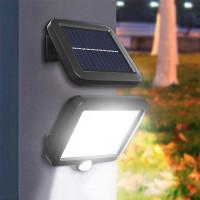 Lampu Hias Dinding Taman Solar Cell Sensor Gerak Outdoor 100 COB