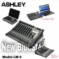 Amplifier Mixer Audio Ashley LM8 LM 8 Original Bergaransi With Koper