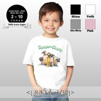 Baju/kaos anak Shaun The Sheep keren terbaru bahan cotton combed