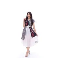 Dress Batik Andin Tenun Songket Mewah All Size Jumbo Murah
