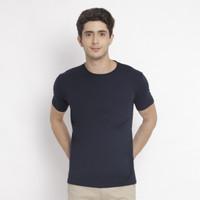 PAULMAY Basic T-Shirt Pria Slim Fit - Kaos Polos Pria Slim Fit - Navy
