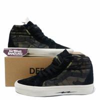 Sepatu Sneakers VANS SK8 HI DEFCON MULTI CAMO BLACK 39 - 44 PK BNIB