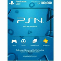 Playstati0n P S N Net work C ard I ndo Reg 3 100000 100 100rb
