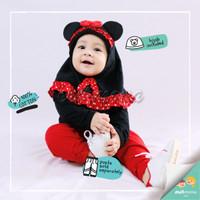 baju bayi jumper hijab minnie mouse
