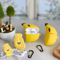 Case Airpods Gen 1/2/Pro / Phone Grip / Cable Winder Banana Terbaru