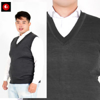 Big Size / Jumbo Rompi Rajut / Knit Vest Hitam Polos Okechuku
