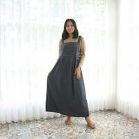 Dress Baju Hamil Muslim Overall Hamil DENIM FREE Inner Alisya - HO 72