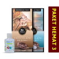 PAKET HEMAT 3 - Coklat Original + Coklat SeaSalt + Hand Sanitizer