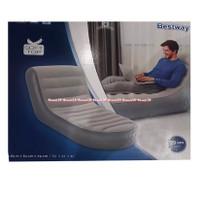 Bestway Kursi Tidur Santai Hitam Sofa Pompa Balon Bludru Black