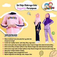 Raggakids Set Baju Olahraga Anak Perempuan PURPLE