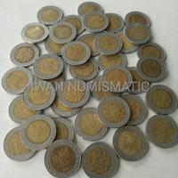 Koleksi Numismatik Uang Koin Kuno Langka 1000 Rupiah Kelapa Sawit